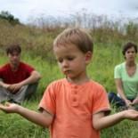 kid between parents