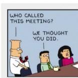 Dilbert at a meeting